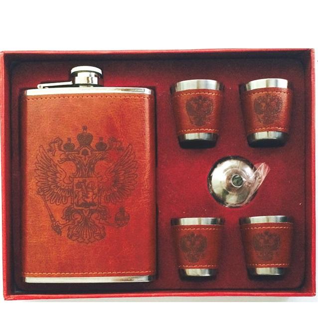 Подарочный набор 005-8 фляга 400мл + 4 рюмки от Mega