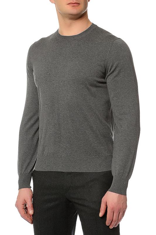 Пуловер мужской Brunello Cucinelli M2900100 CJ588 серый 50 IT фото