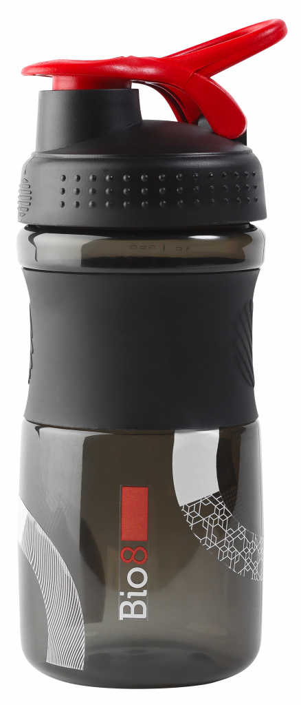 Шейкер Bio8 черный/красный 600 мл