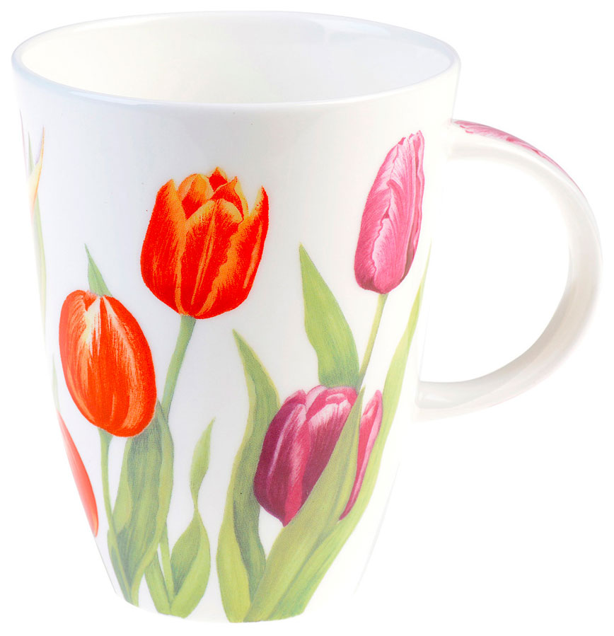 чашка с тюльпанами открытка того