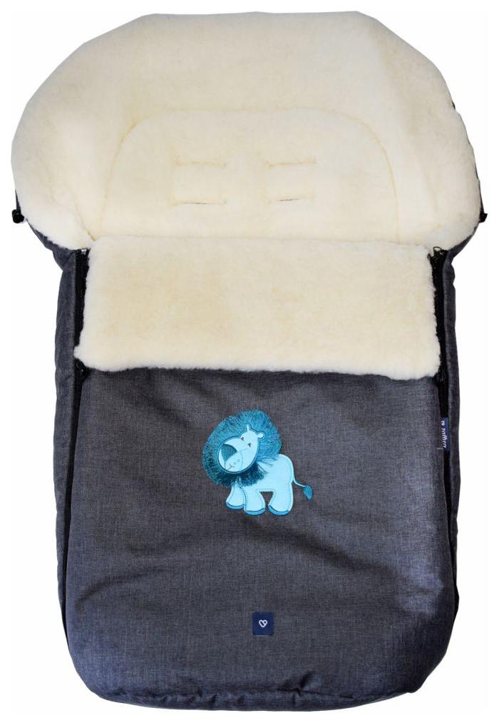 Купить Спальный мешок в коляску Womar №S77 Exlusive Lion Melange fabric Графитовый, Конверты в коляску