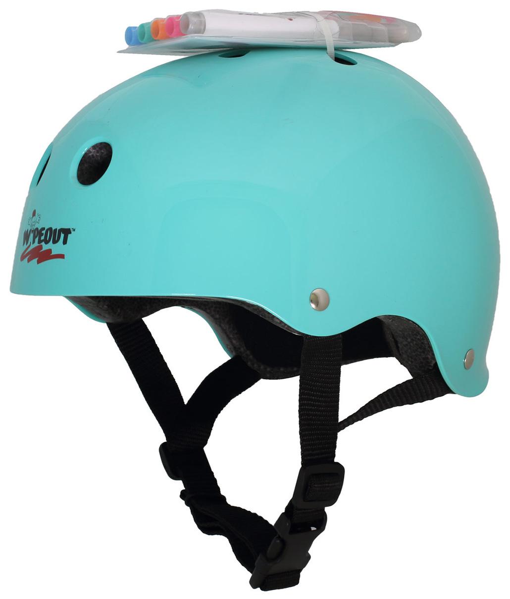 Купить Шлем с фломастерами Wipeout Teal Blue M 5+,