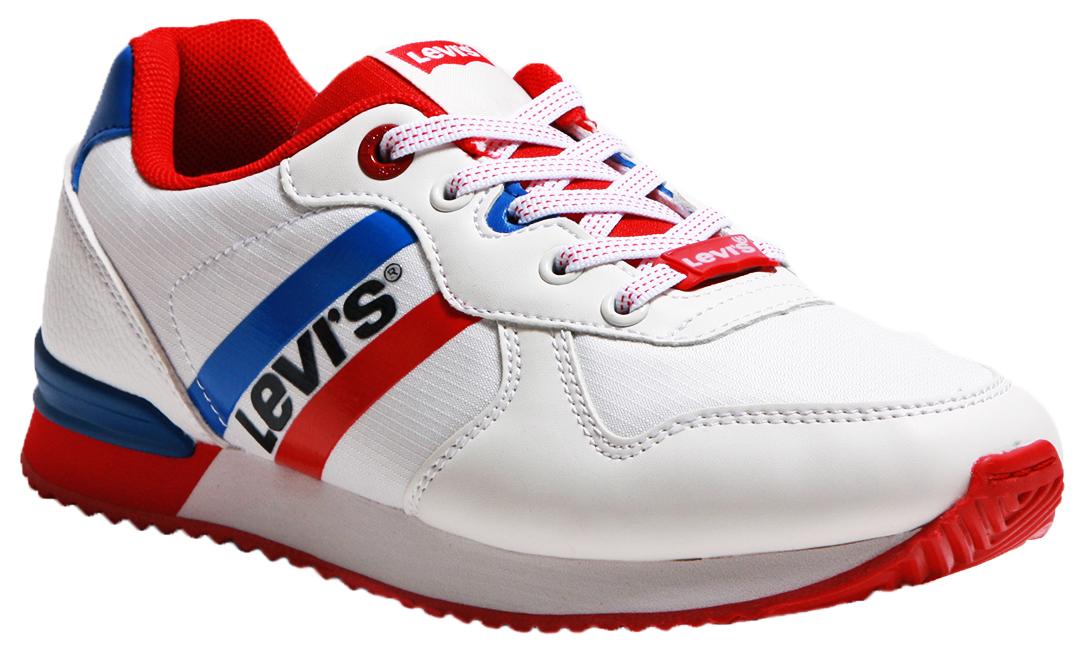 Купить 56220, Кроссовки Levi's Kids white red royal 36 размер, Детские кроссовки
