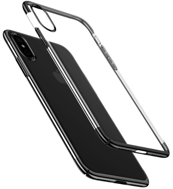 Чехол-накладка Baseus Glitter Case (WIAPIPHX-DW01) для Apple iPhone X (Black)