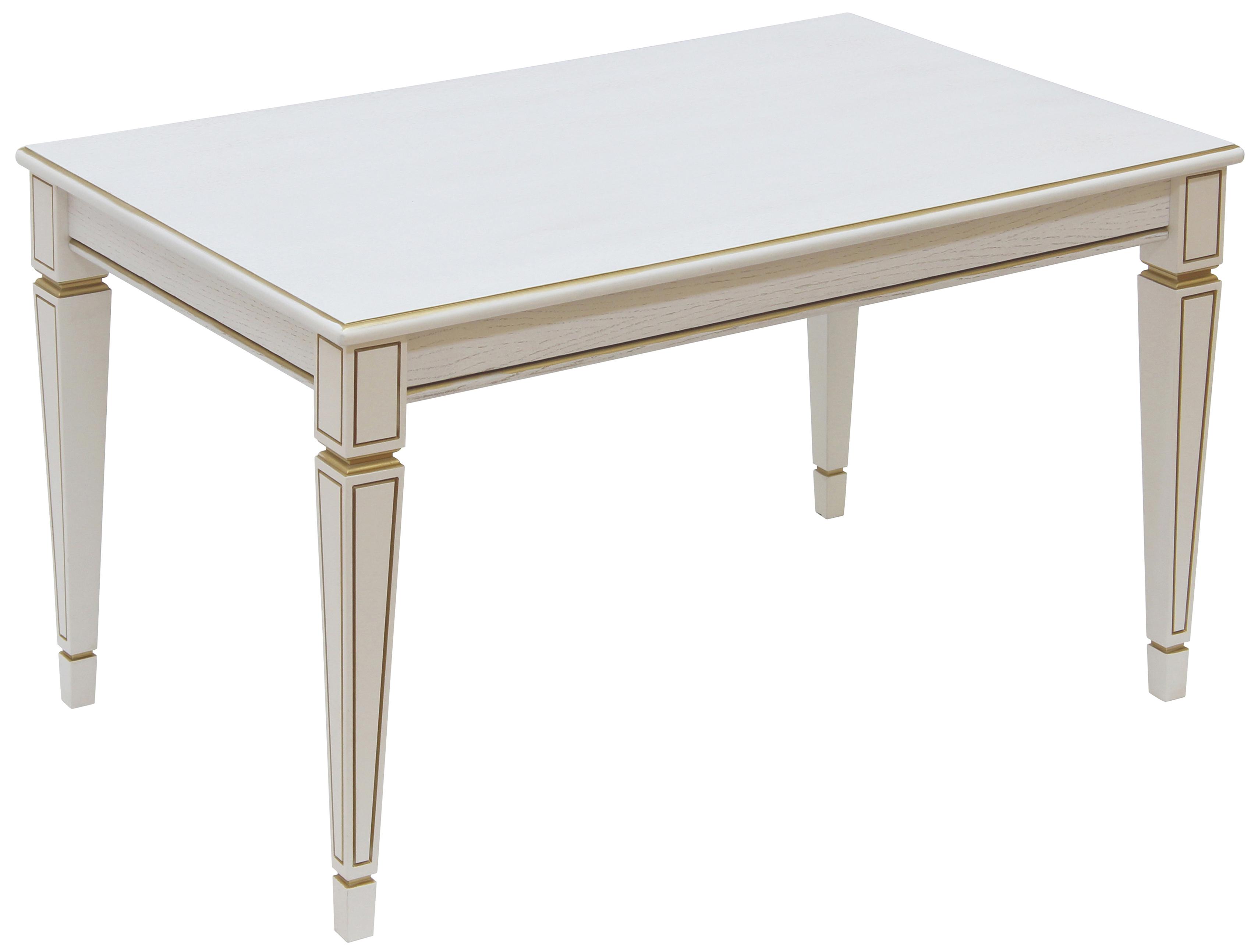 Журнальный столик Мебелик Васко В 81 В 81 92х58х52 см, белый ясень/золото