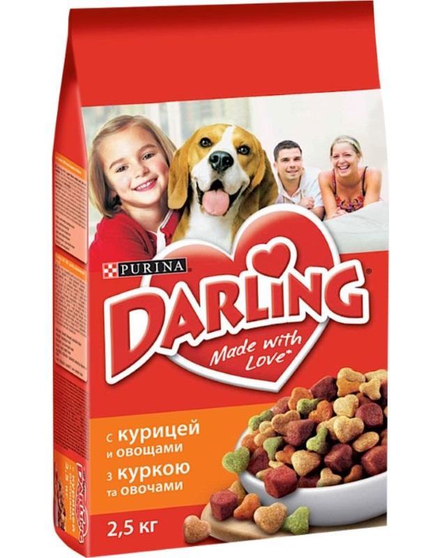 Сухой корм для собак Darling, злаки, курица, овощи, 2,5кг
