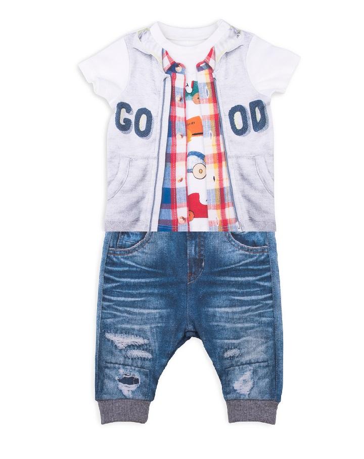 Комплект 2 пр. Папитто для мальчика Fashion Jeans 512-04 р.22-74