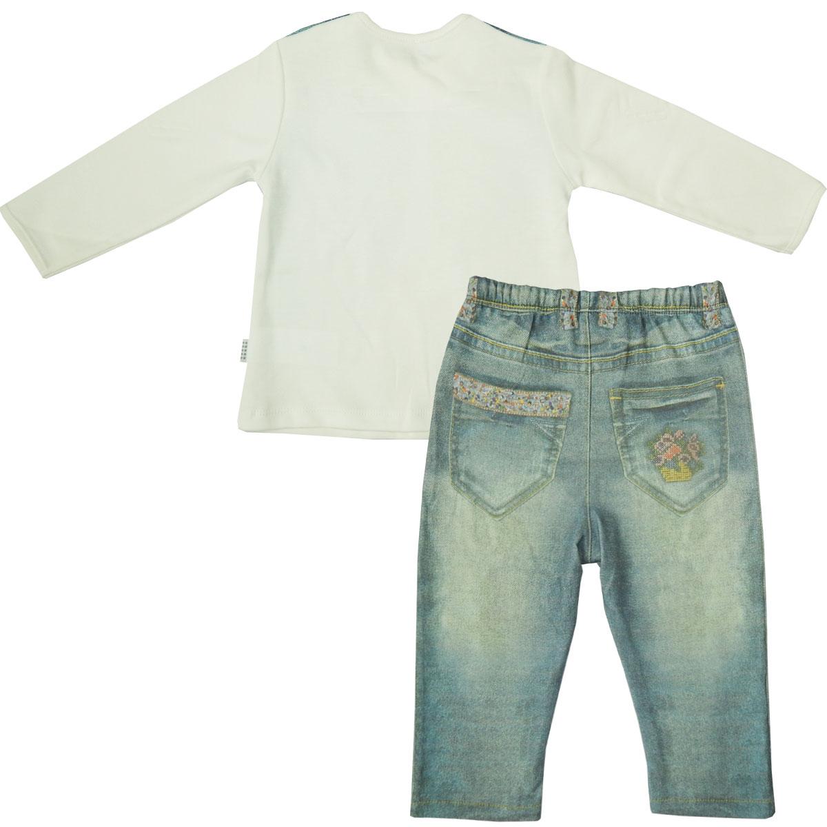 Купить Комплект 2 пр. Папитто для девочки Fashion Jeans 593-05 р.22-74, Комплекты для новорожденных