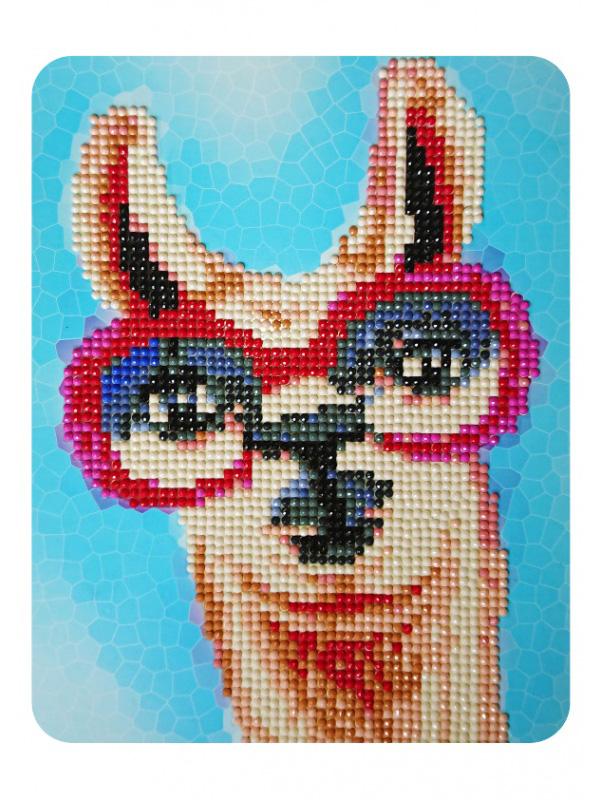 Лама в розовых очках - алмазная картина
