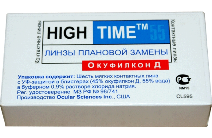 Купить Контактные линзы High Time 55 6 линз R 8, 6 -2, 50