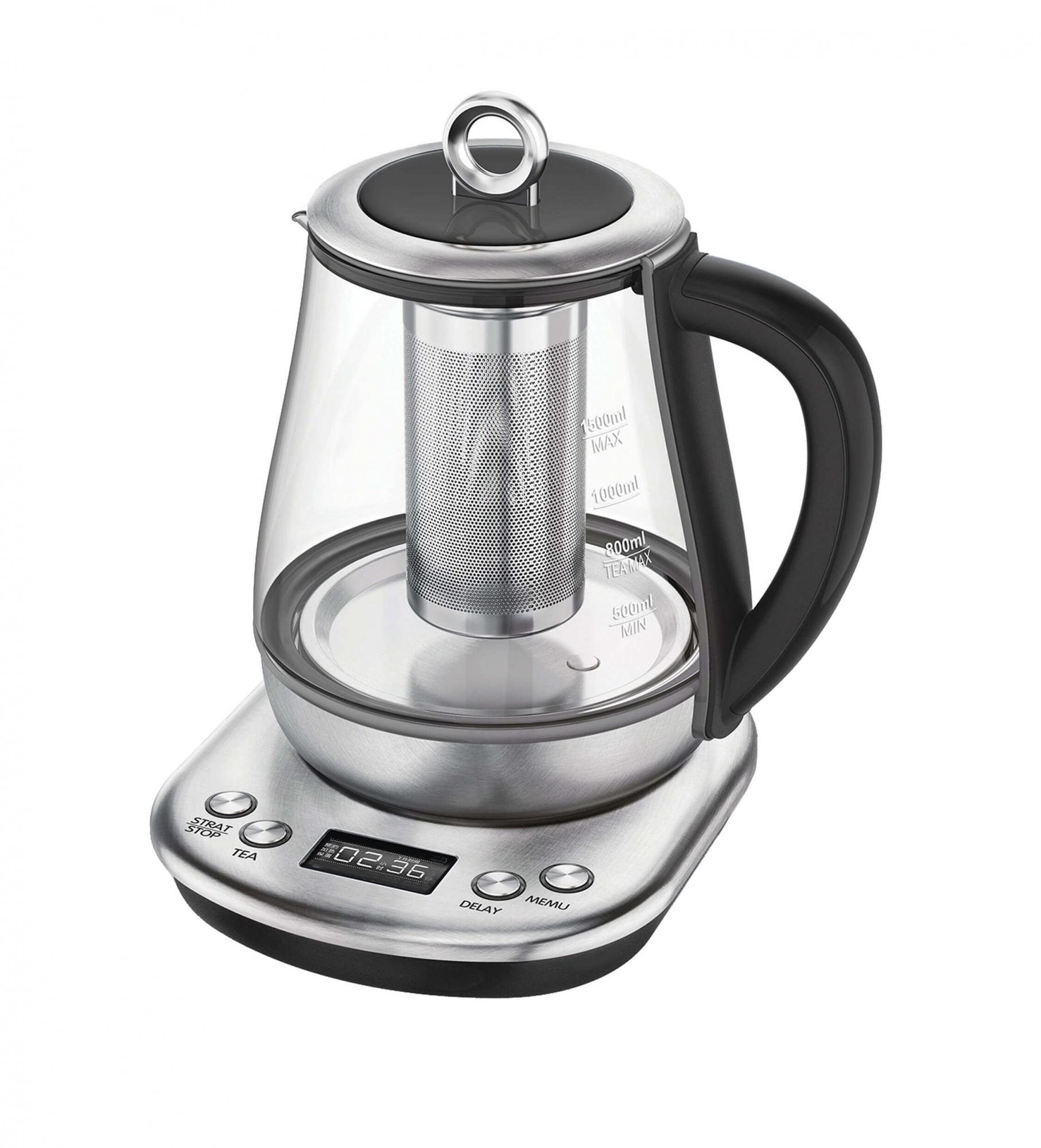 Чайник электрический Gemlux GL TK1597 Silver