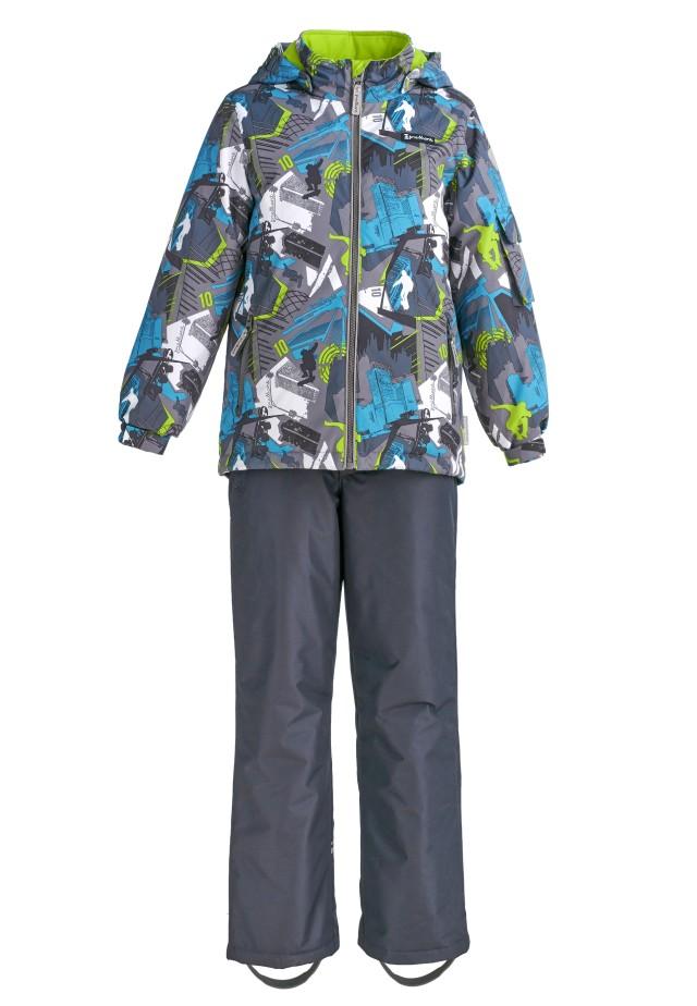 Купить Sp92202 grey, Комплект демисезонный: куртка и брюки Premont SP92202 серый р.164, Комплекты верхней одежды для мальчиков
