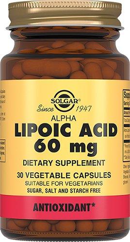 Альфа липоевая кислота, 30 капсул, Solgar