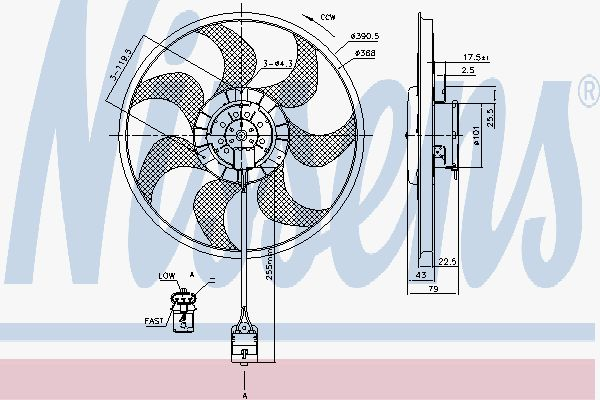 Вентилятор охлаждения двигателя NISSENS 85777