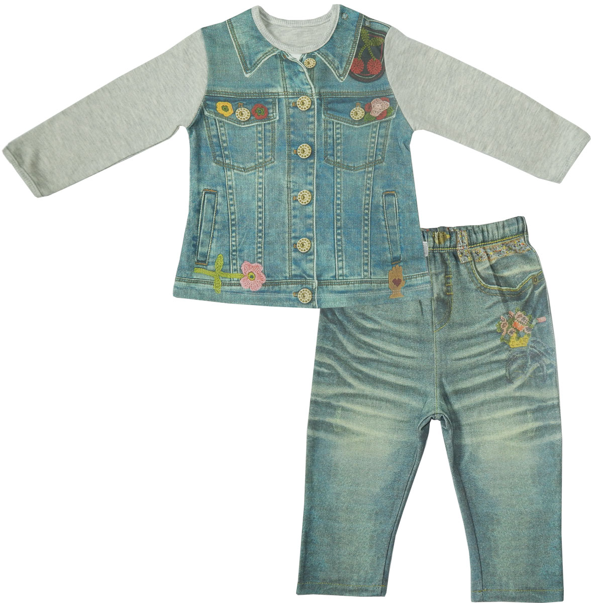 Комплект одежды Папитто для девочки Fashion Jeans 594-05 р.24-86