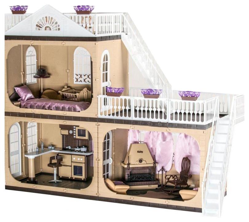 Коттедж для кукол Barbie Барби Коллекция С-1292 с мебелью Огонек