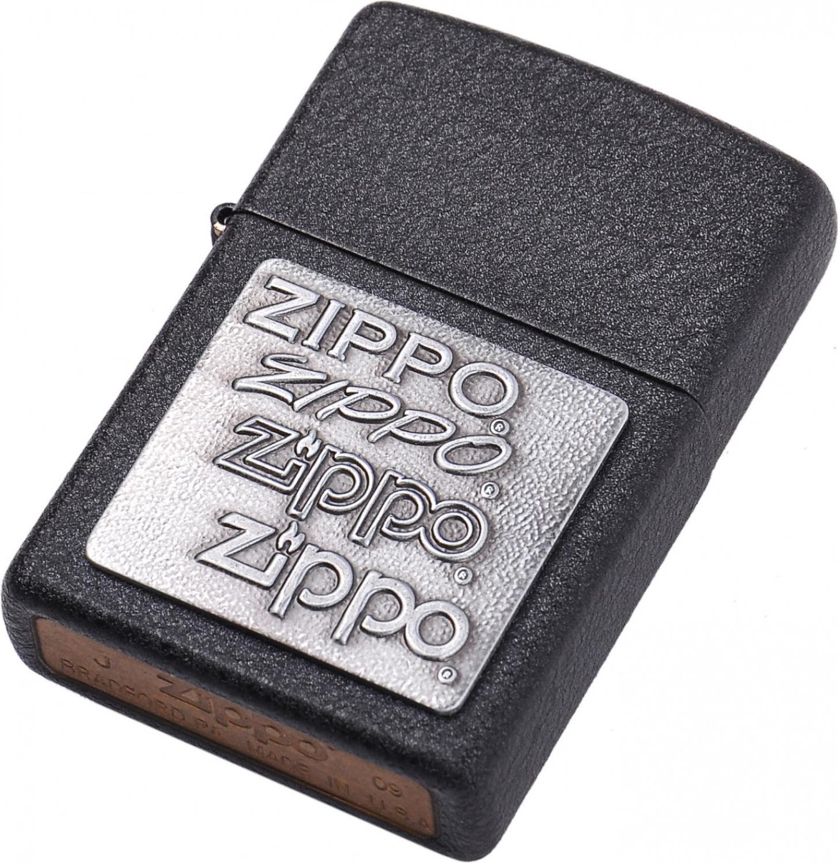 Зажигалка Zippo №363 Black Crackle