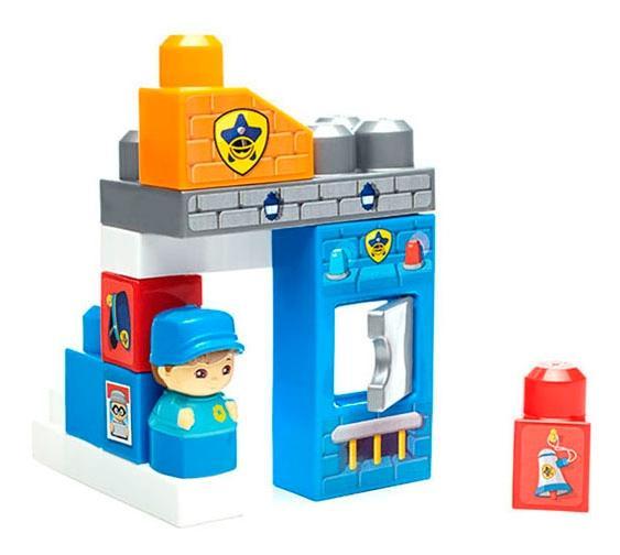 Мега блокс игровой набор полицейский участок