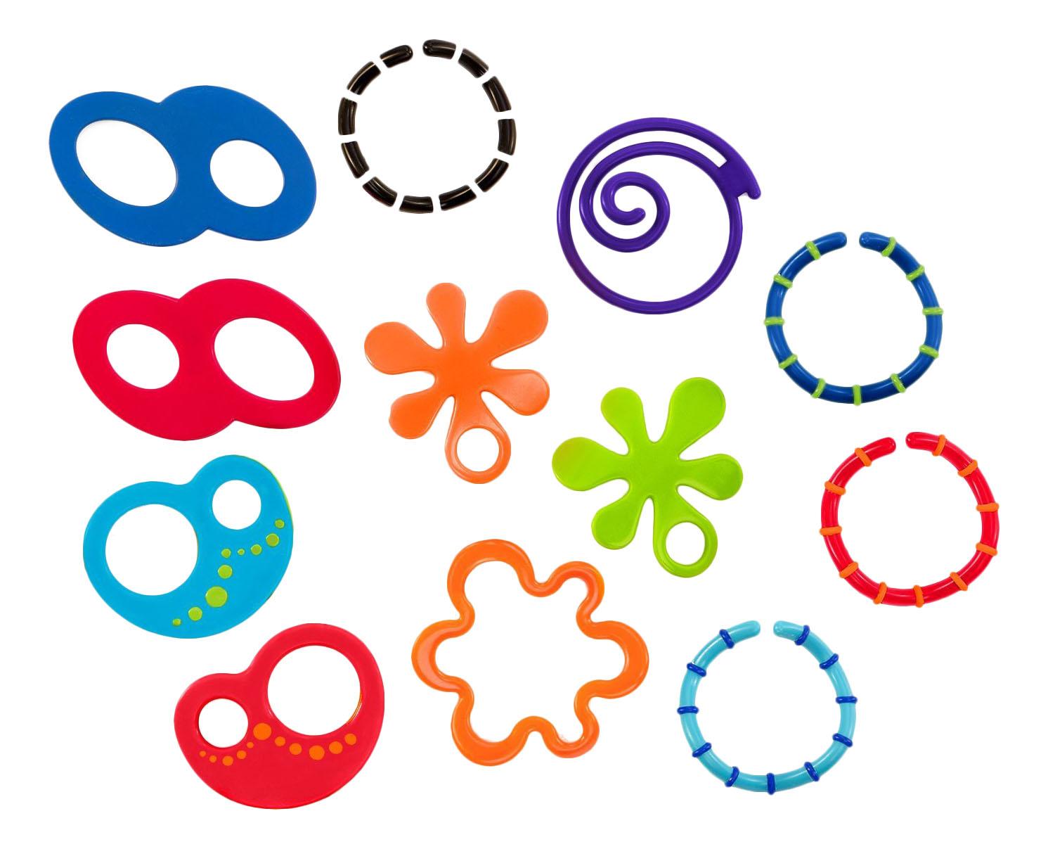 Oball набор прорезывателей забавные колечки.