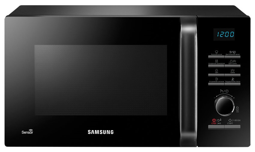 Микроволновая печь с грилем Samsung MG23H3115QK black фото