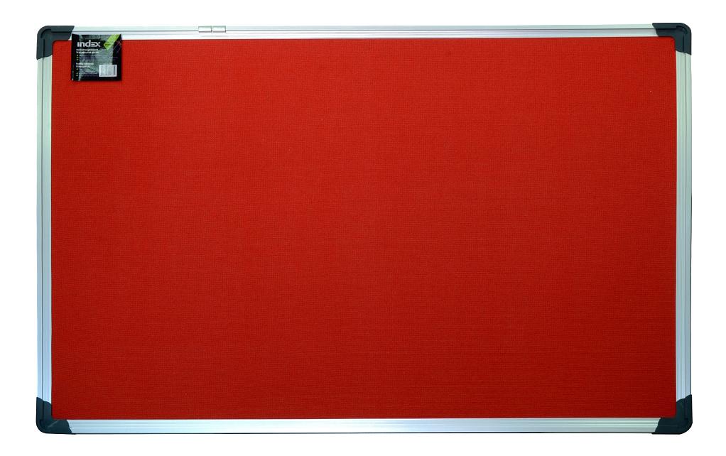 Купить Доска 90 х 120 см текстильная в алюминиевой рамке, красная, Доска Index текстильная в алюминиевой рамке красная, 90 х 120 см, Невская Косметика, Доска для рисования