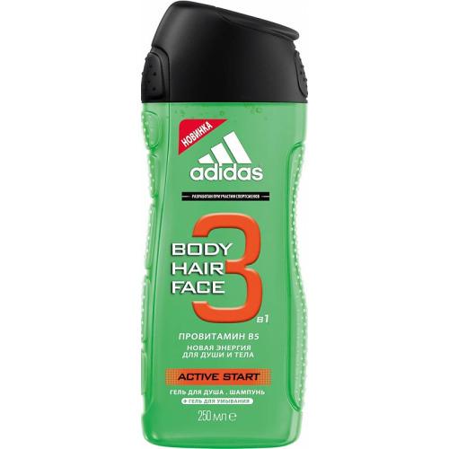 Гель для душа Adidas Active Start Body-Hair-Face 250 мл