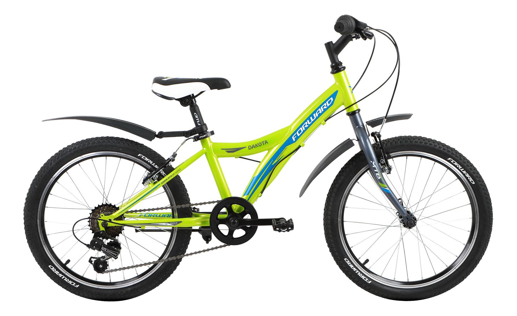 Велосипед двухколесный Forward Dakota 1.0 20 (2017) зеленый фото
