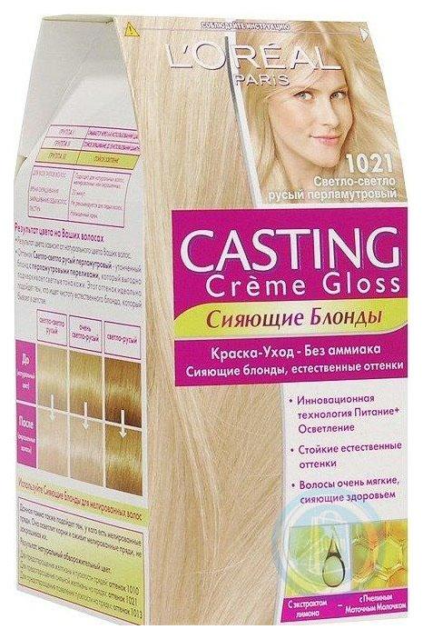 Купить Краска для волос L'Oreal Paris Casting Creme Gloss 1021 Светло-русый 180 мл