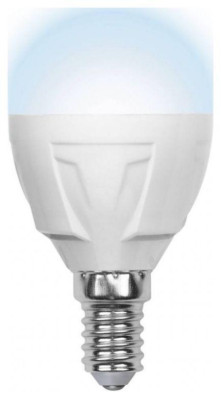 Лампа светодиодная (07903) E14 6W 4500K шар матовый LED-G45-6W/NW/E14/FR ALP01WH