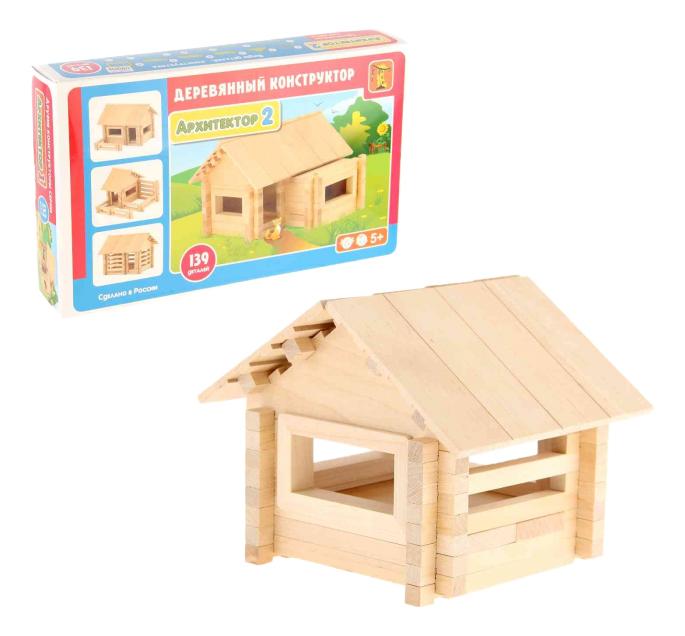 Конструктор деревянный Пелси Архитектор 2