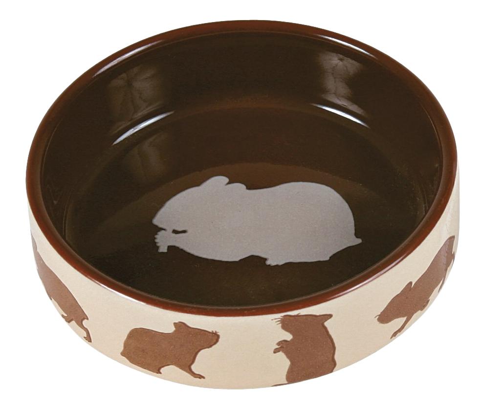 Одинарная миска для грызунов TRIXIE, керамика, бежевый,