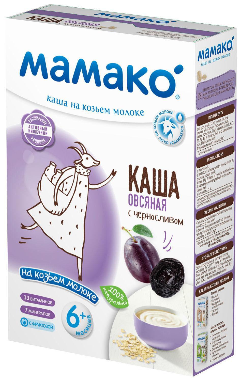 Купить Каша молочная Мамако Овсяная на козьем молоке с черносливом с 6 мес. 200 г,