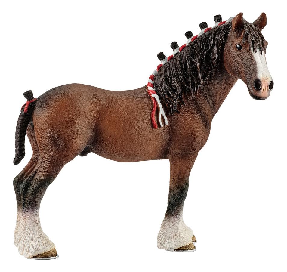Купить Жеребец Клайдсдаль 12.4 см, Фигурка лошадки Schleich Клейдесдаль жеребец 13808, Фигурки животных
