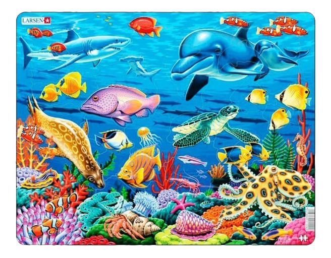 Купить Пазл Коралловый риф 35 элем. Larsen FH29, Пазлы