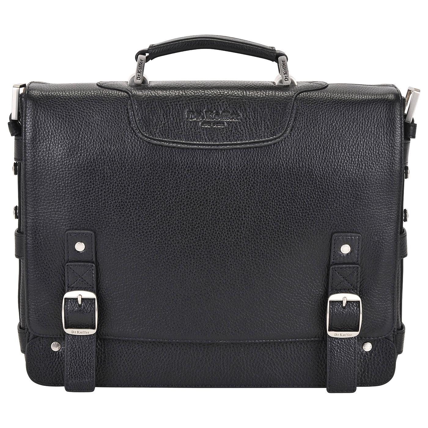 Портфель мужской кожаный Dr. Koffer B402297-02-04 черный фото