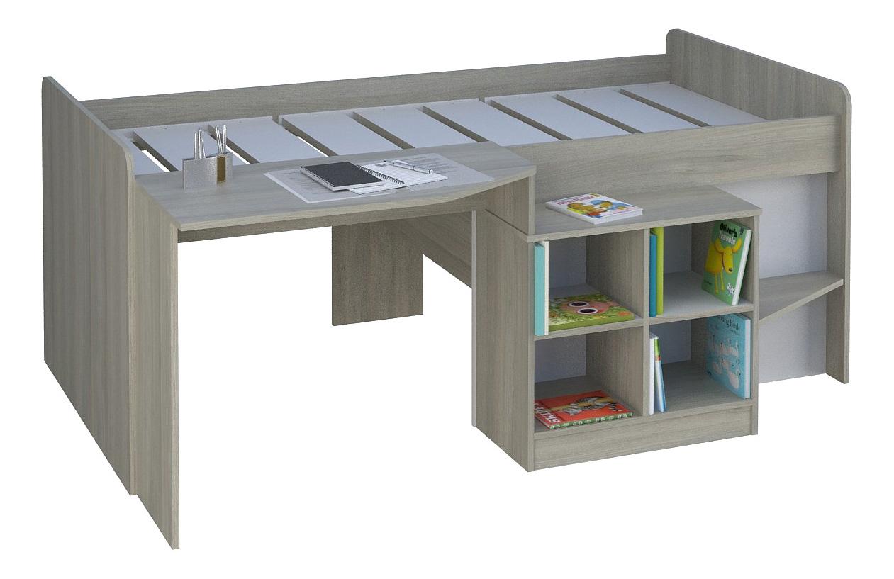 Кровать чердак Polini Simple со столом