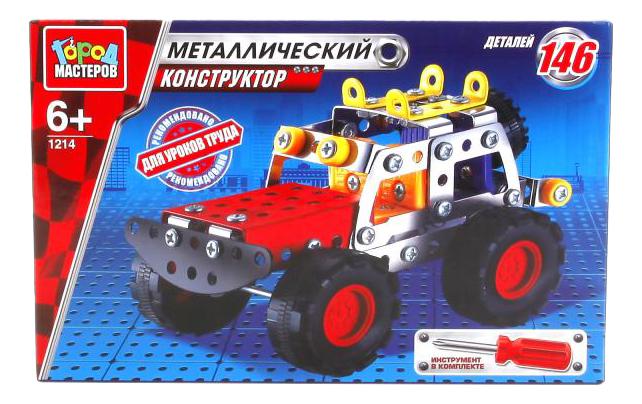 Конструктор Металлический Джип 146 дет. Город Мастеров