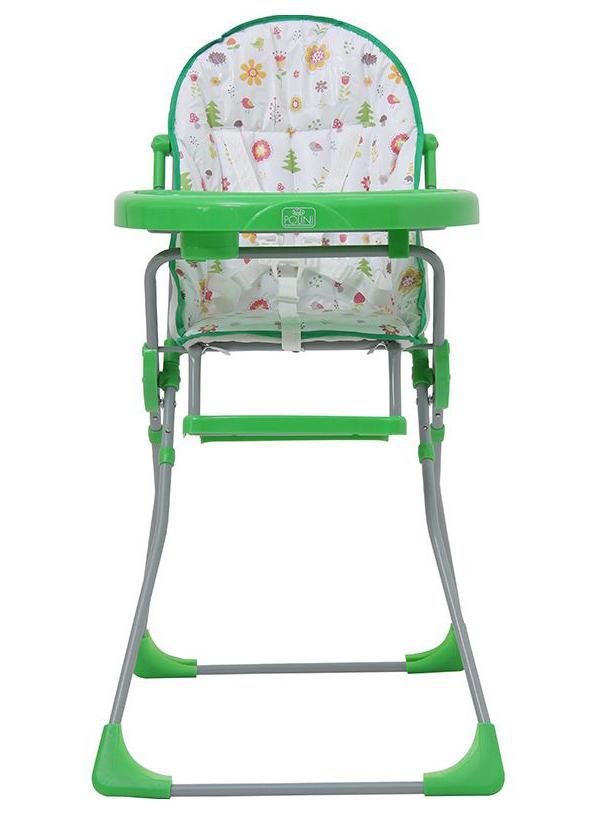 Стульчик для кормления Polini Kids 152 Лесные друзья, Зеленый