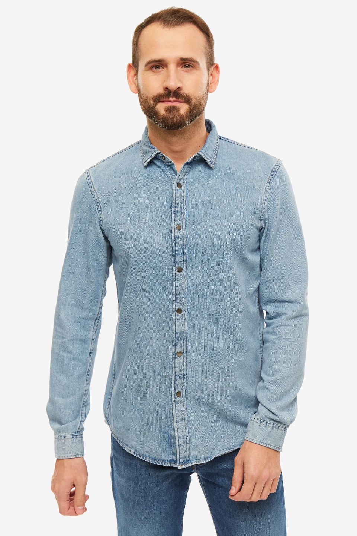 Рубашка мужская TOM TAILOR Denim синяя фото