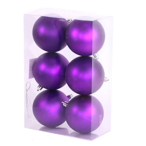 Набор шаров на ель Ели PENERI Новый год 6 см JNPM-6-P 12 шт фото