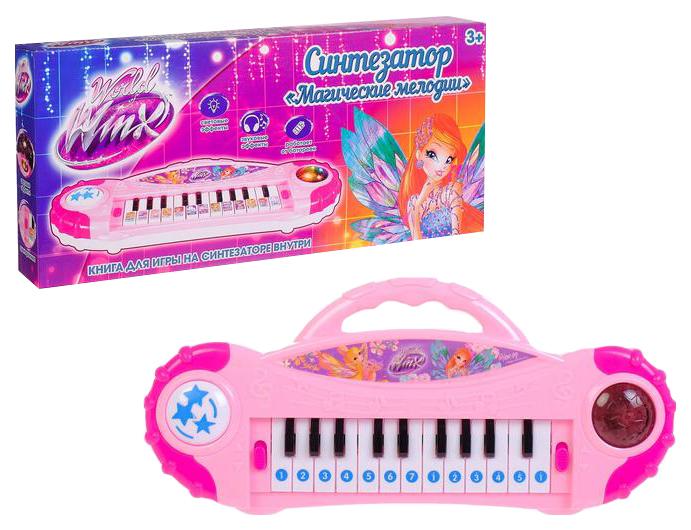 Купить Синтезатор Магические мелодии феи ВИНКС с книгой для игры на синтезаторе Winx, Детские музыкальные инструменты