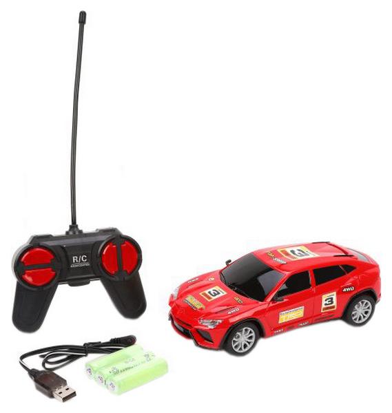 Машина р/у, 4 канала, свет, аккум., USB шнур, эл.пит.АА*2шт.не вх.в комплект, коробка