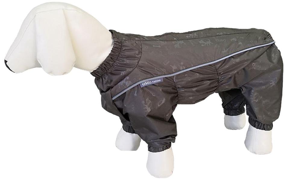 Дождевик для собак OSSO Fashion, мужской, хаки, 37-1