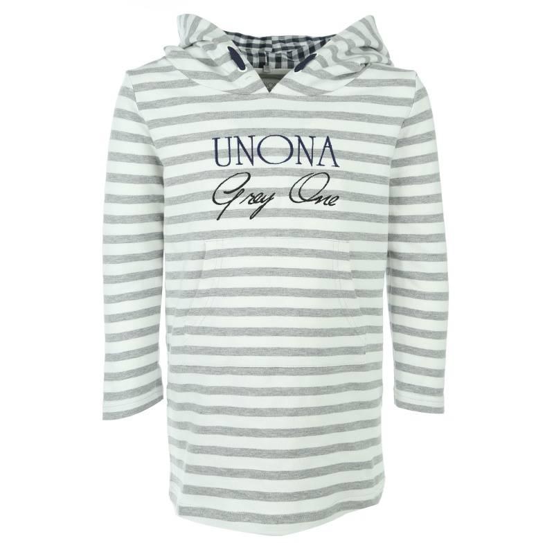 Купить 2032, Платье UNONA GO, цв. серый, 134 р-р, Платья для девочек