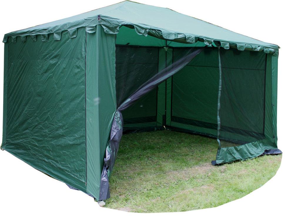 Тент-шатер со стенками Campack Tent G-3401W зеленый фото