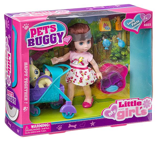 Набор игровой с куклой Pets Buggy, BOX, 2 вида, арт.63002.