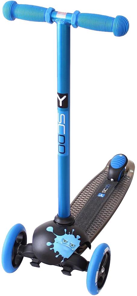 Купить Самокат трехколесный Y-SCOO RT TRIO DIAMOND 120 Monsters 1 высота blue Ziggi, Самокаты детские трехколесные
