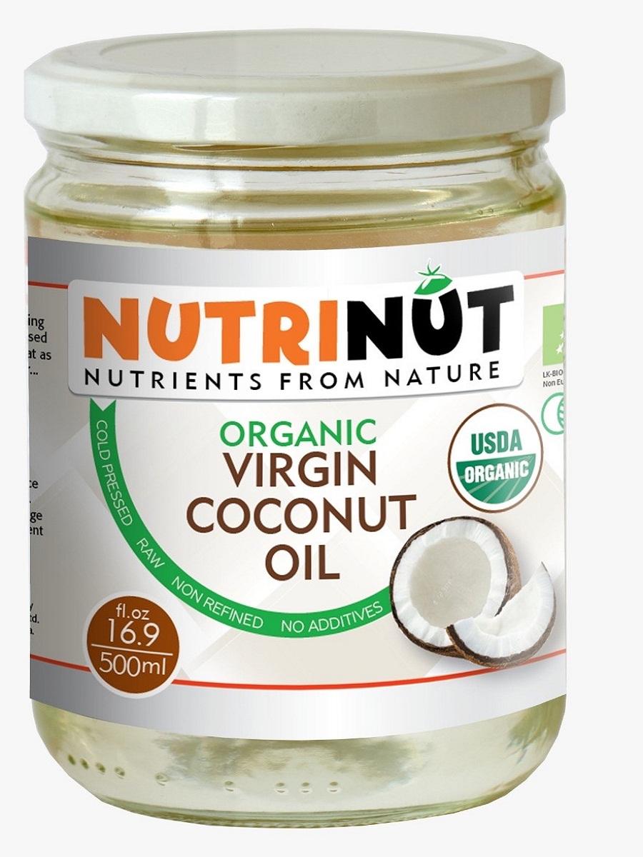 Кокосовое масло  Nutrinut organic virgin coconut oil 500 мл по цене 1 852