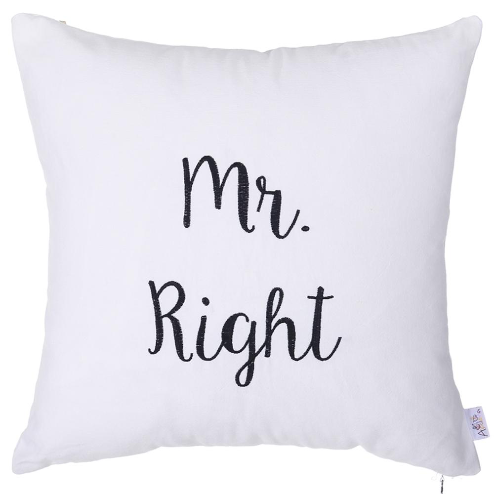 Декоративная наволочка Mr Right (40х40)