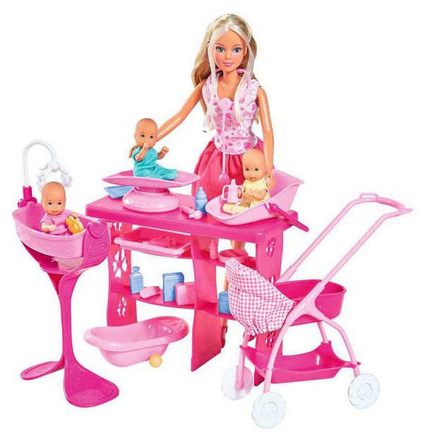 Кукла Simba Штеффи с 3 малышами